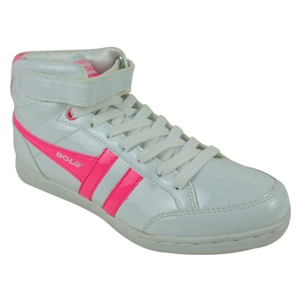 Ladies-Gola-Neon-Pink-Hi-Top-Trainers-Shoes-Womens-3-8