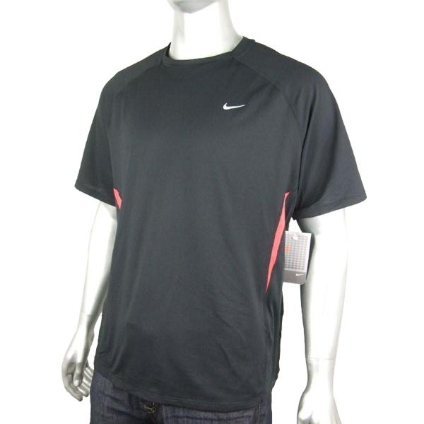 Mens Nike Dry Dri Fit Running Shirt Top Black Red Tee Ebay