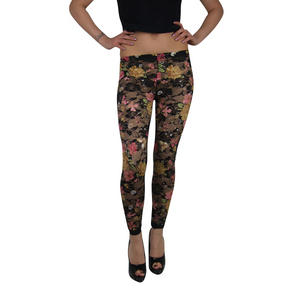 Item Details - Ladies Long Floral Womens Lace Leggings Tights Black