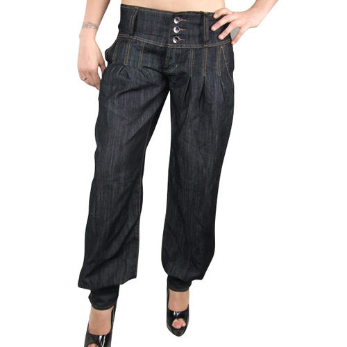 Item Details - Ladies Genie Boho Aladdin Harem Denim Pants Trousers