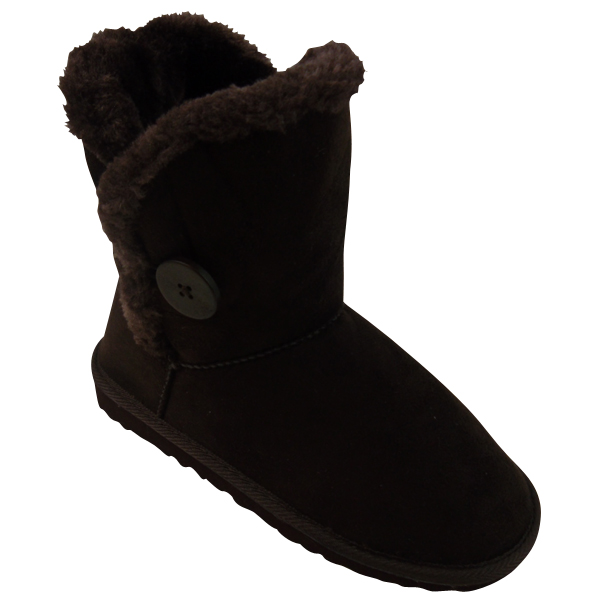 warm winter snow boot faux suede womens fur lined