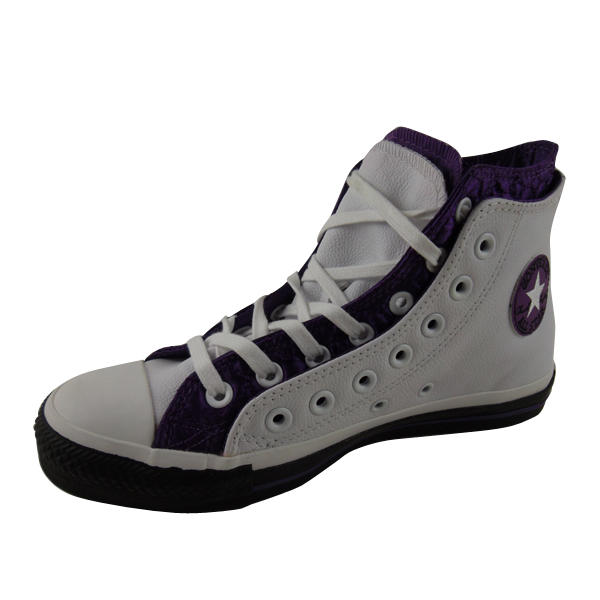 Womens-Converse-All-Star-Shoes-Leather-Quilt-Trainers-Hi-Top-Ankle-Boot-Size-3-8