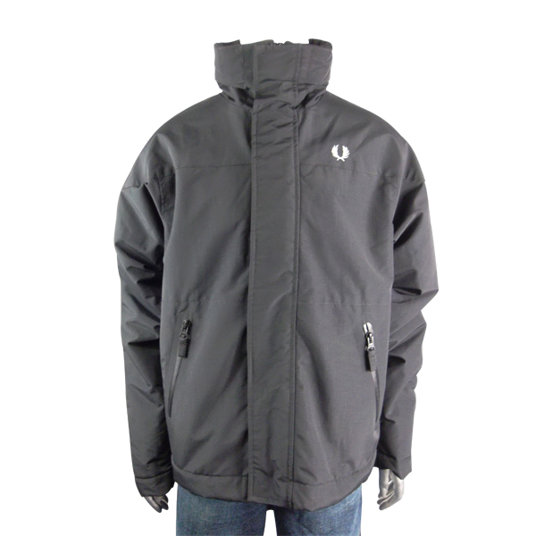 Boys-Kids-Fred-Perry-Jacket-Coat-Black-Junior-Hooded-Fleece-Lined-Youths-Size