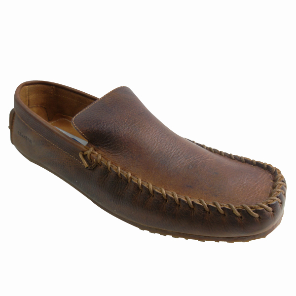 Mens-Leather-Ikon-Designer-Shoe-Smart-Moccasin-Tan-Brown-Mod-Shoes-Size-UK-6-11