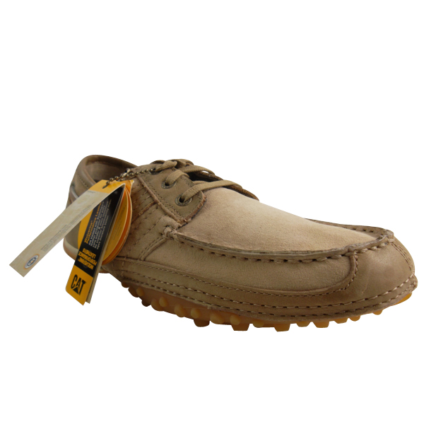 Mens-Caterpillar-CAT-Quaid-Boat-Trainer-Shoes-Leather-Casual-Deck-Trainers