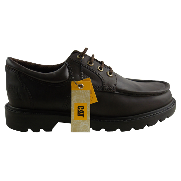 mens caterpillar cat reposition brown leather shoes formal