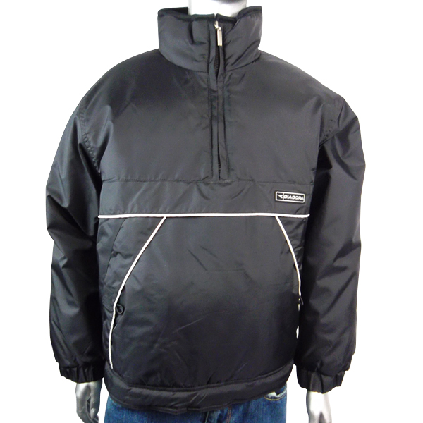 Boys Diadora Jacket Coat Black Padded Half Zip Winter Warm