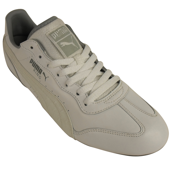New-Mens-Puma-Ring-II-Lace-Up-Trainer-White-Leather-Retro-Trainers-Size-UK-6-12