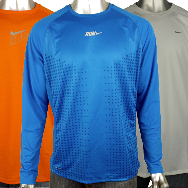 Mens-Nike-Dry-Dri-FIT-Running-Training-Shirt-Reflective-Long-Sleeve-Tee-Top
