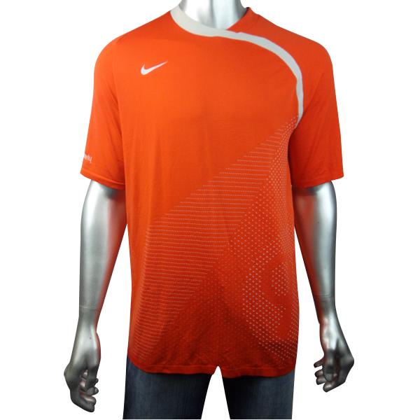 Mens Nike Total 90 Dry Dri Fit Orange Running Shirt Top T