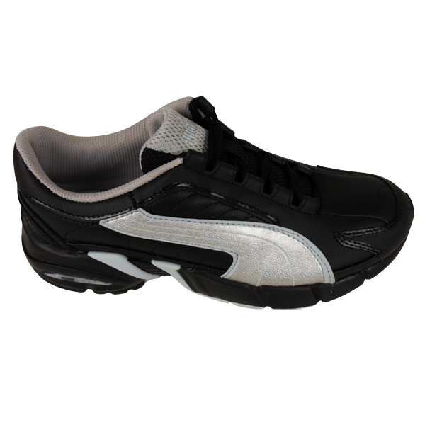 Ladies-Puma-Janus-Black-Leather-Trainers-Running-Trainer-Shoes-Womens-Size-3-8