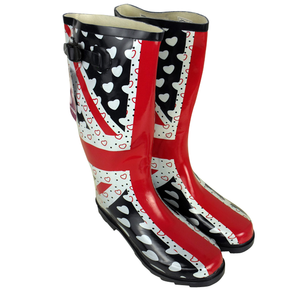 damen gummistiefel boots bedruckt regen schnee winter. Black Bedroom Furniture Sets. Home Design Ideas