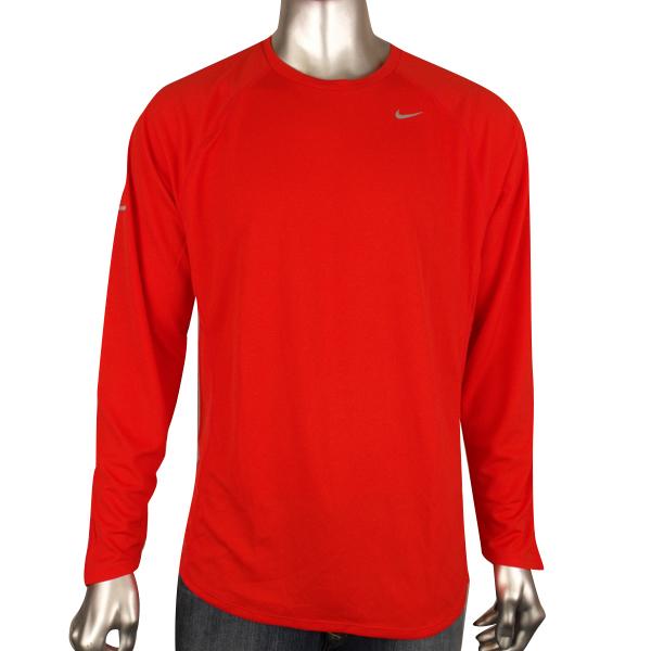 Mens Nike Dry Dri Fit Running Training Shirt Reflective
