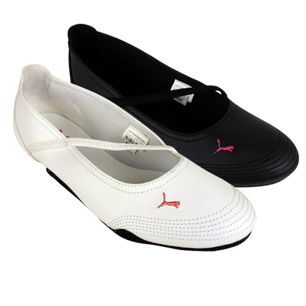 Details about Puma Shoes for Women Icon Dolly Leather Trainers Flats
