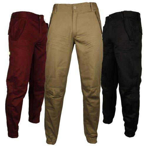 Mens Location Geiger Chino Pant Cotton Cuffed Chinos Coloured Pants Size 30