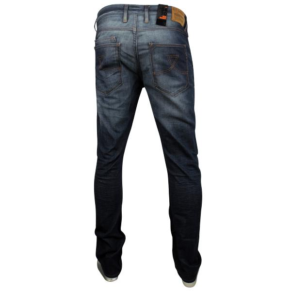 New-Mens-Ben-Sherman-Denim-Jeans-Rod-Slim-Skinny-Fit-Pants-Blue-Washed-Mod-Jean