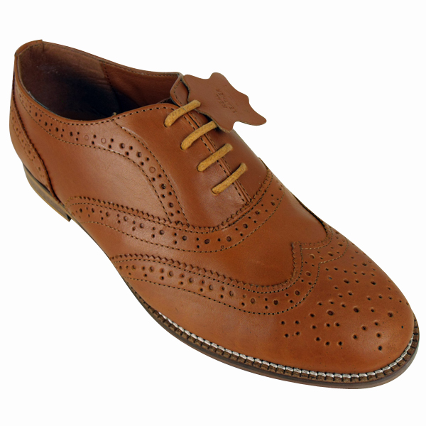 Brogue shoes, characterised by a sturdy construction, leather-punched detailing and serrated trims, are a considered way to infuse both formal and casual looks with heritage-inspired appeal.