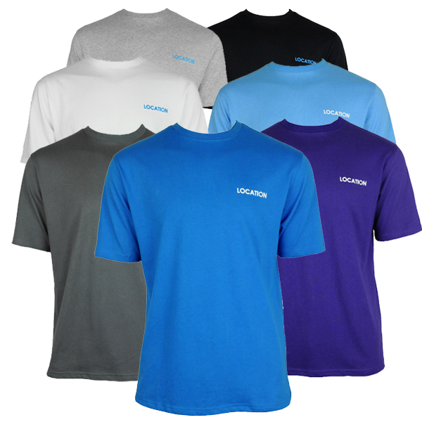 Mens Location Pack Of 3 Crew Neck Assorted Colours Tee T-shirt Top Size Enlarged Preview
