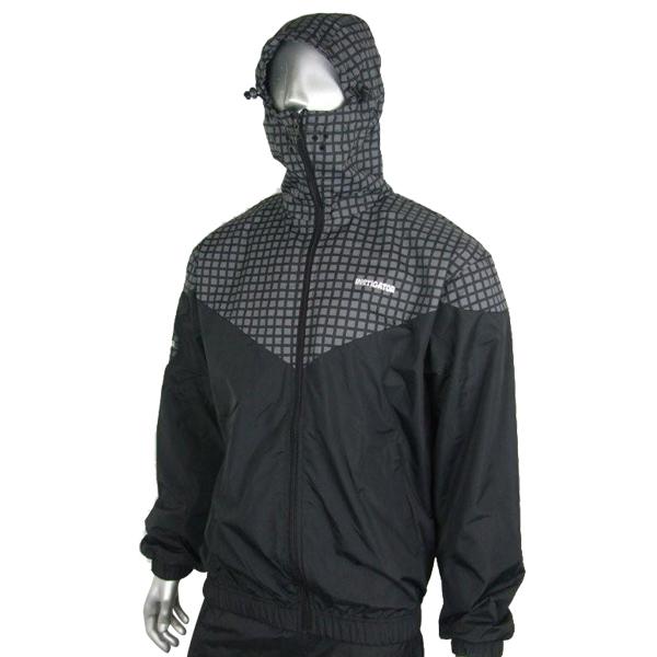 Instigator-Mens-Boys-Black-Bomber-Rain-Jacket-Hooded-Windbreaker-Coat-All-Sizes
