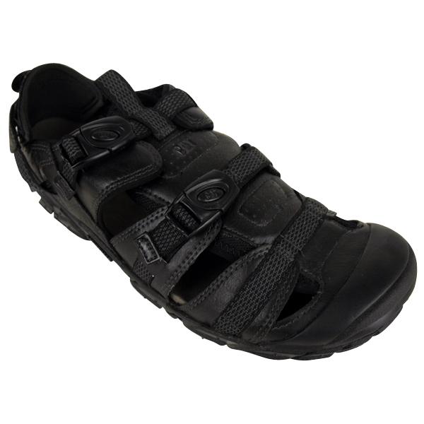 832440bd4 Image is loading Mens-Caterpillar-CAT-Equinox-Black-Leather-Sandal-Walking-