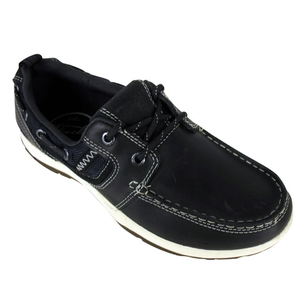 Mens-Skechers-Newman-Vinci-Leather-Boat-Shoe-Loafer-Deck-Shoes-Size-UK
