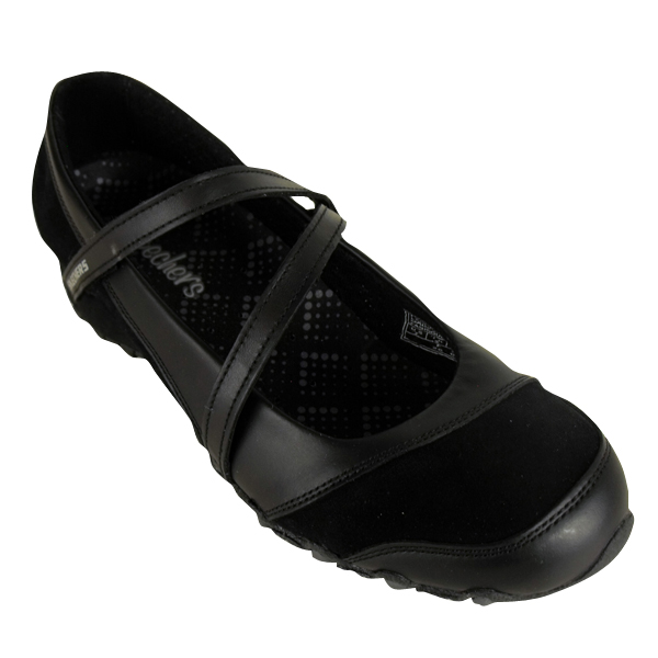 skechers black shoes ladies