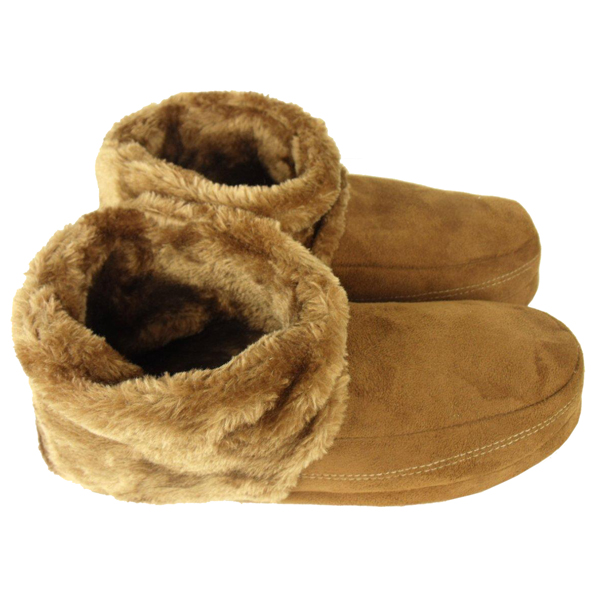 Mens Dunlop Ankle Boot Furry Slipper Bootee Faux Suede Warm ...