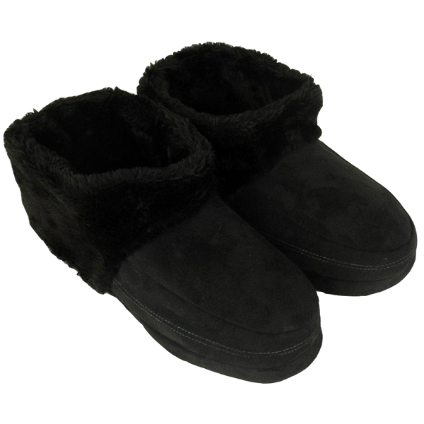 mens dunlop ankle boot slipper bootee faux suede