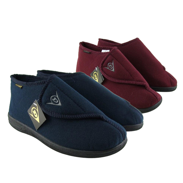 Men Dunlop Ankle Boots Velcro Slipper Wide Fit Slippers Size 6.5 ...