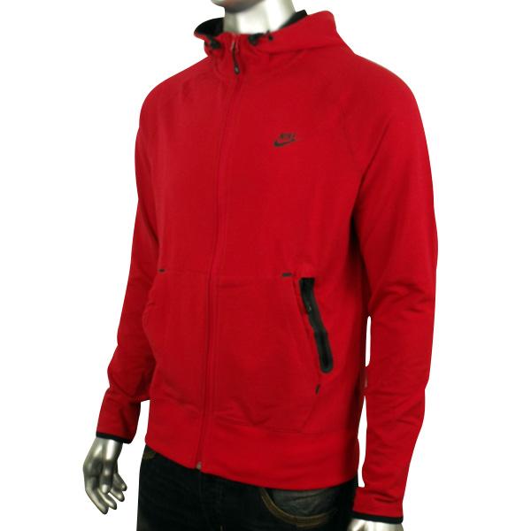 Nike Sweater For Men Red Running Training Full Zip Hooded