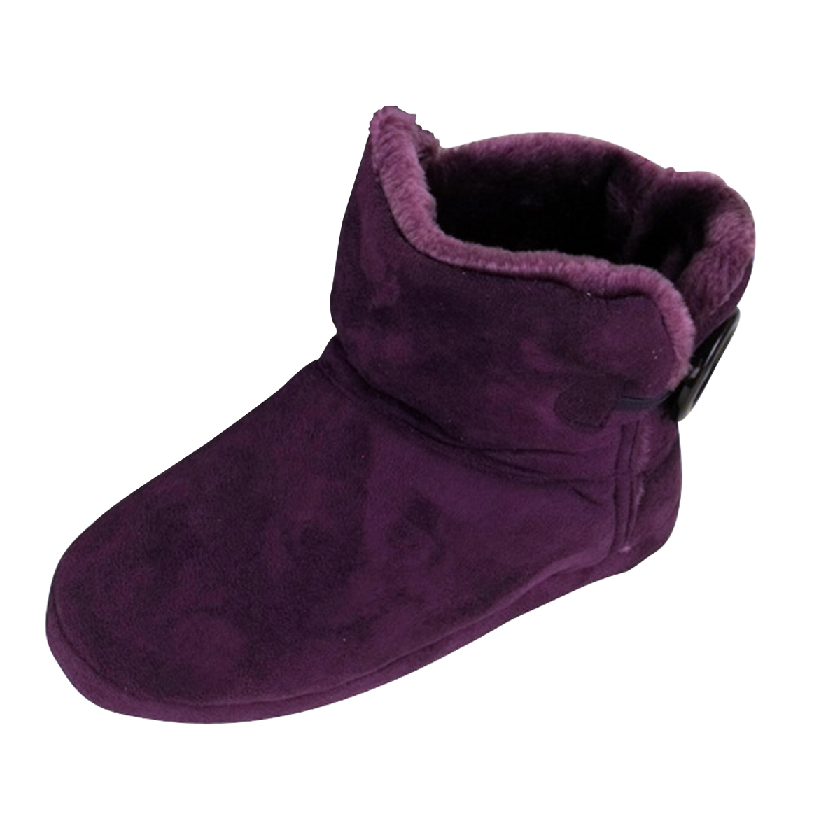 dunlop purple faux suede ankle boot bootee slipper