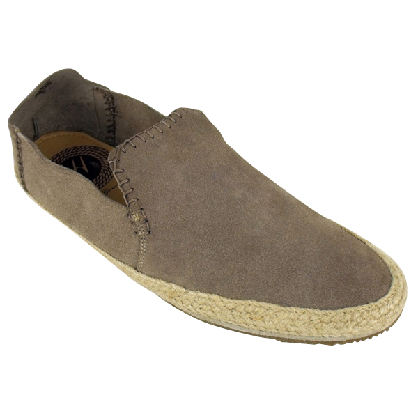 mens h by hudson anta suede casual shoe espadrille loafer