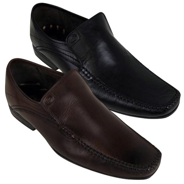 Mens Leather Base London Bet Designer Shoe Smart Moccasin