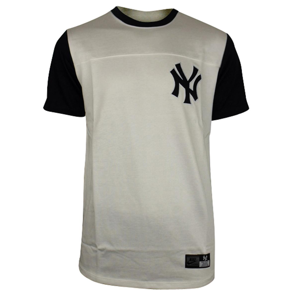 Mens nike new york ny yankees white bronx ml baseball tee for Best baseball t shirts