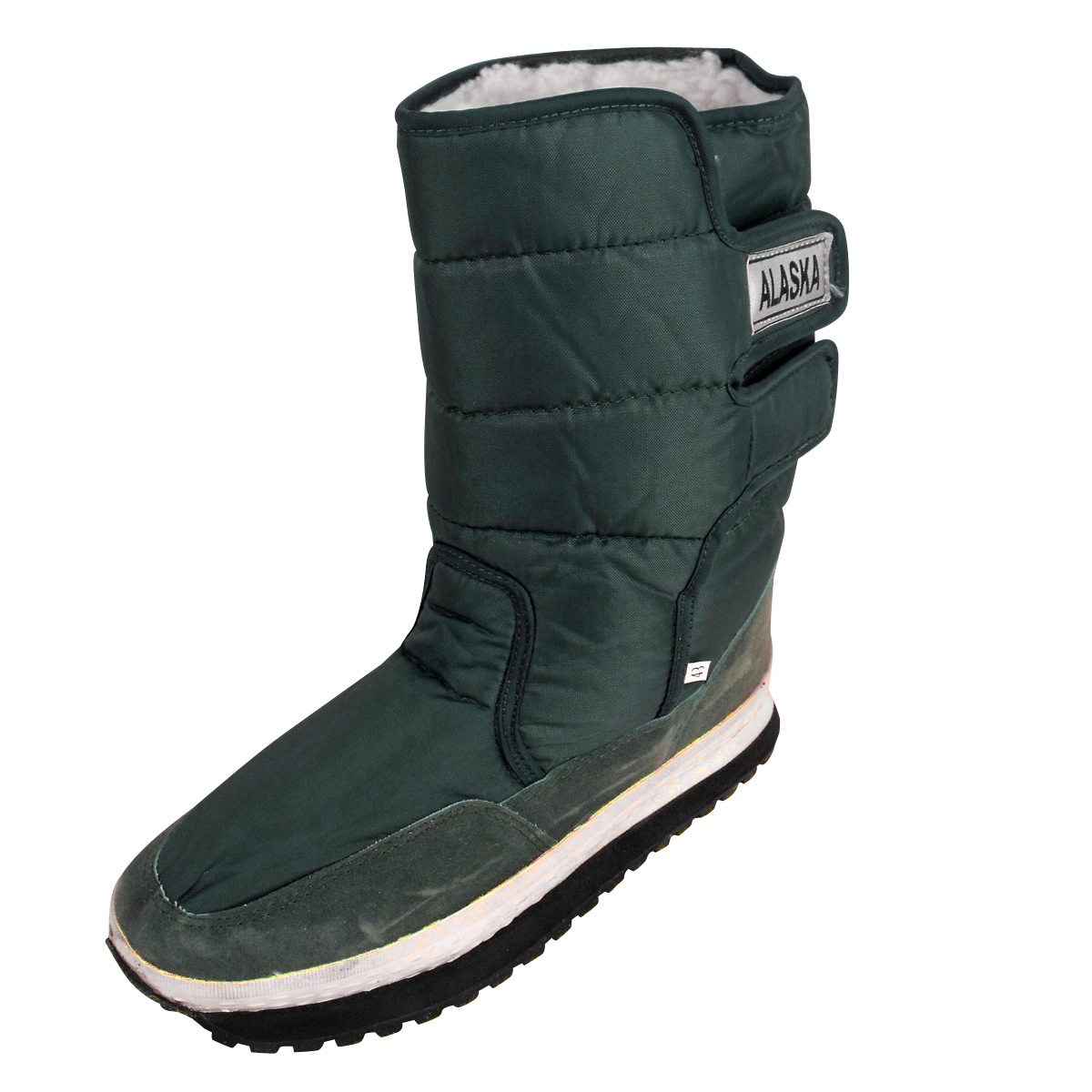 new mens shearling snow quilted thermal warm winter boot
