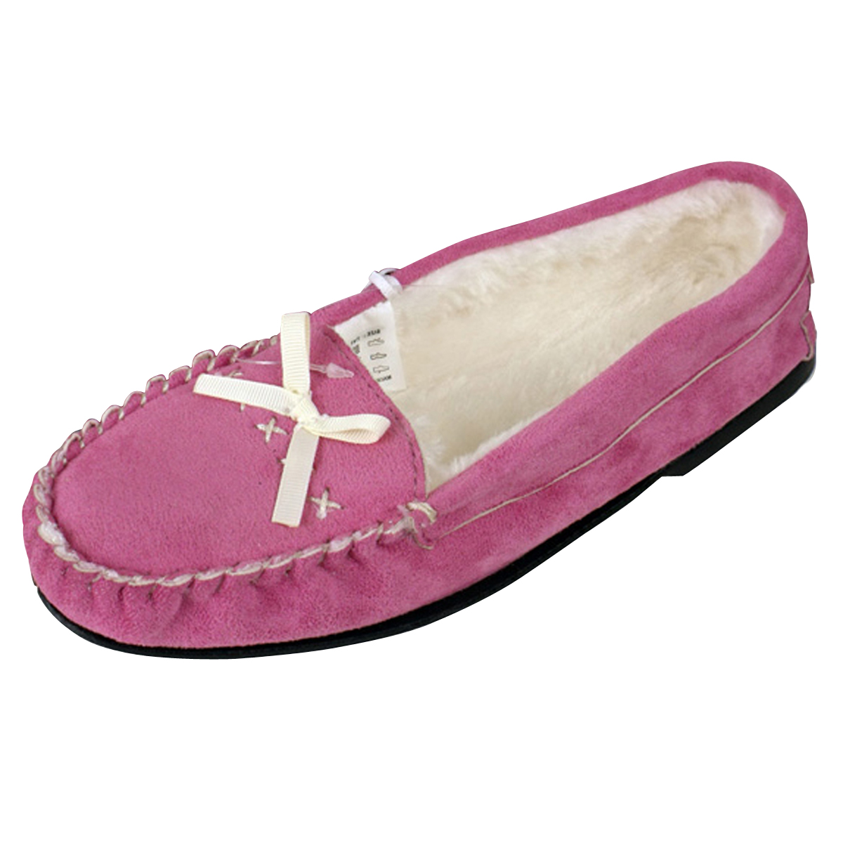 Womens Moccasin Faux Suede Leather Slipper Moccasins