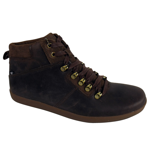 mens caterpillar roarke brown leather ankle boots cat