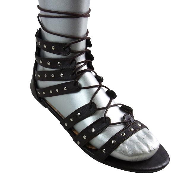 damen sandalen gladiator riemchen kn chelhoch geschn rt r mer flach ebay. Black Bedroom Furniture Sets. Home Design Ideas