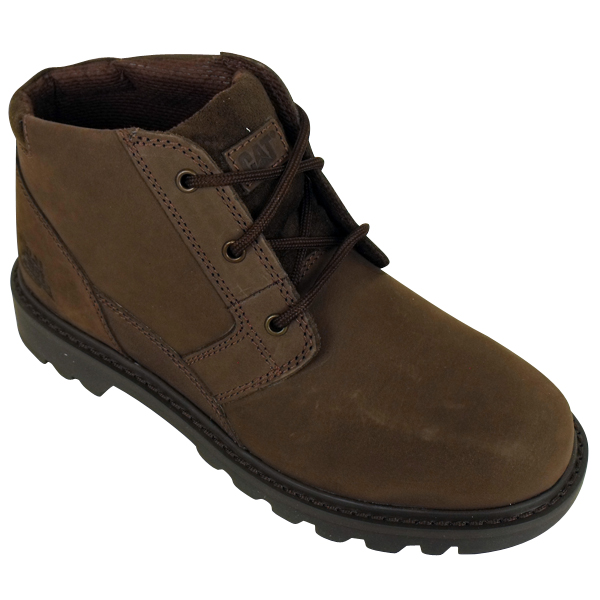 mens caterpillar cat graft brown nubuck leather boot
