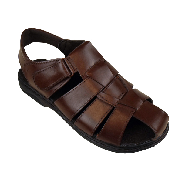 sandalen herren leder elegant klettverschluss strand sommer schuhe ebay. Black Bedroom Furniture Sets. Home Design Ideas