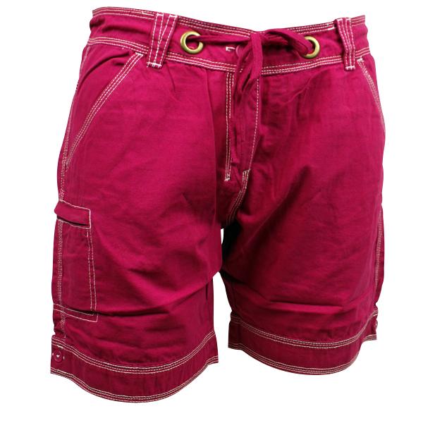 Ladies Womens Safari Canvas Cargo Short Chino Shorts Drawstring ...