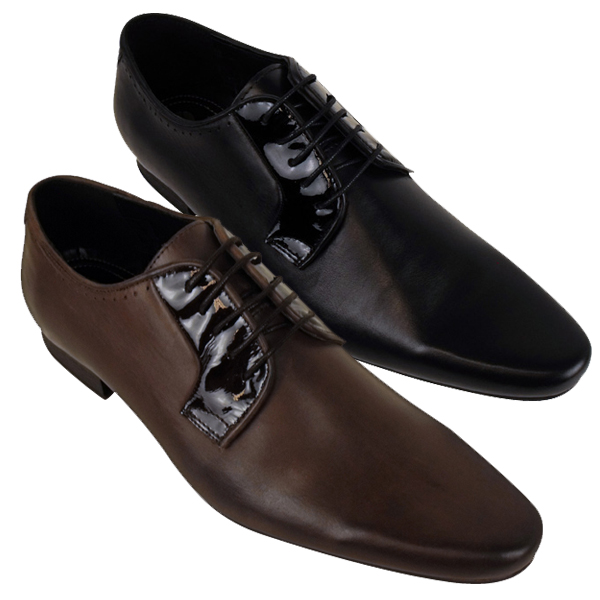 Mens H by Hudson Leather Smart Larkin Derby Shoe Formal Designer ...