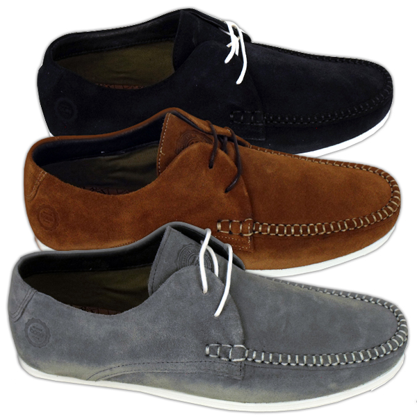 mens base leeds suede leather boat moccasin shoes