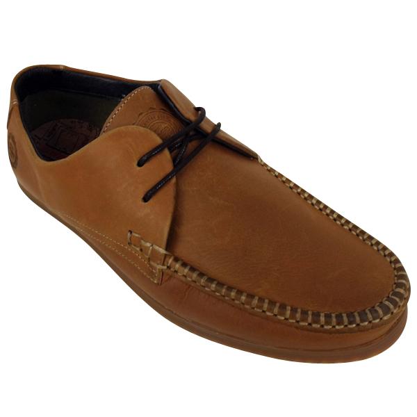 mens base leeds leather boat moccasin shoes