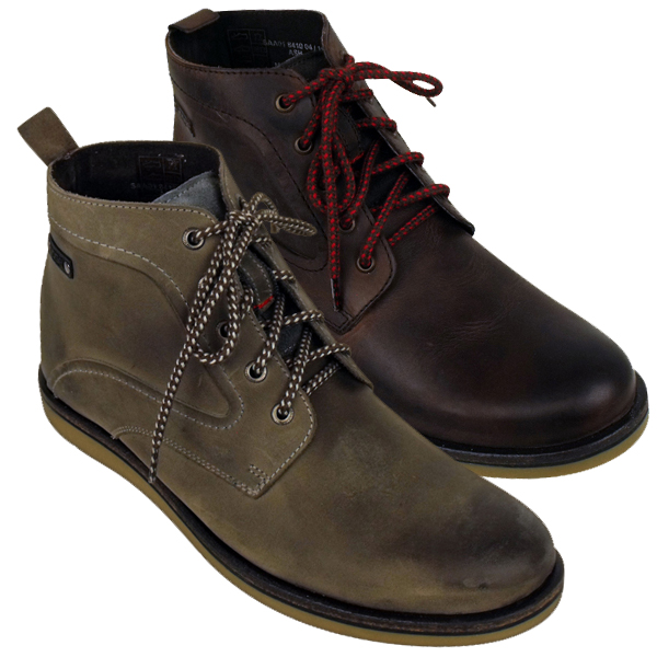 Men Leather Base London Ash Hiker Style Ankle Boot Leather Boots ...