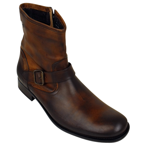 new mens leather base safe biker ankle boot leather