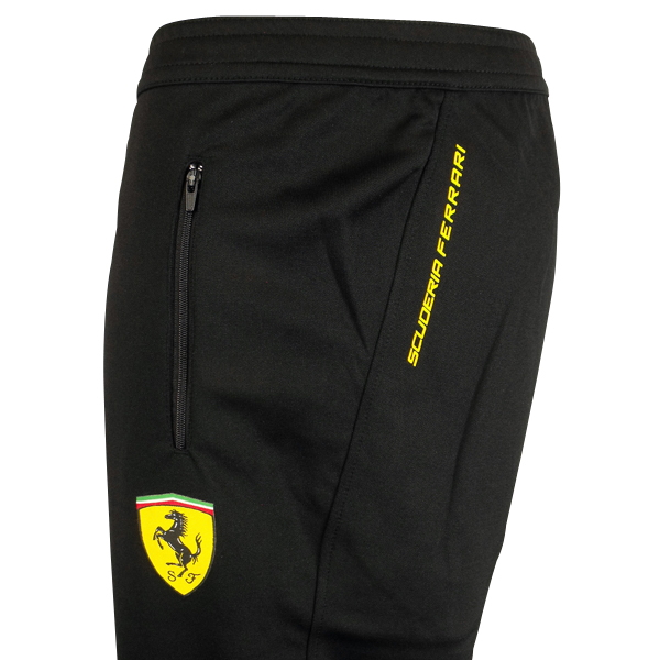 Mens Boys Puma Scuderia Ferrari Pant Black Sf Tracksuit