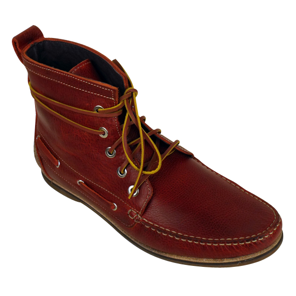 Mens Hudson Mesquite Bordo Leather Moccasin Deck Boat Boots Shoes ...