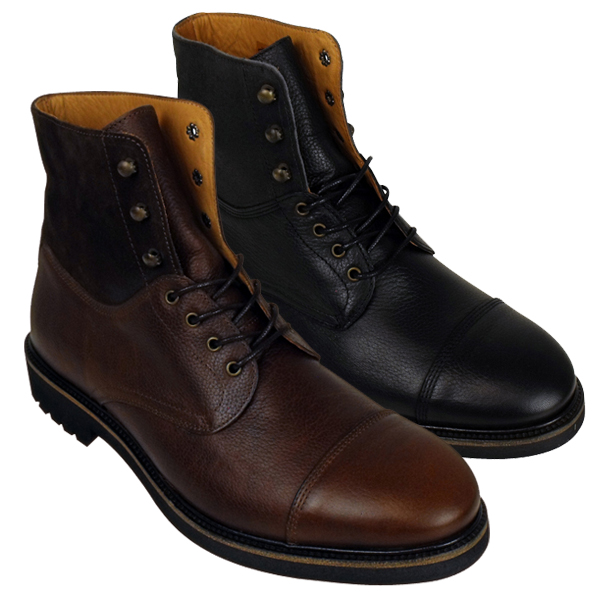 mens h by hudson jackman leather ankle boot