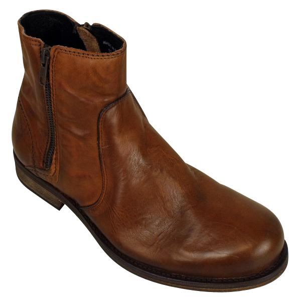 mens h by hudson bressler brown leather ankle boot